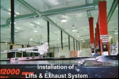 Installation of Lifts & Exhaust System