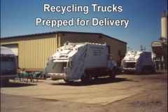Recyling Trucks Prepped for Delivery