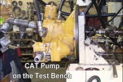 CAT Pump on the test bench