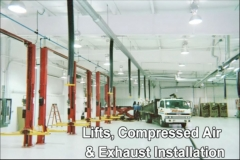 Lifts, Compressed Air & Exhaust Installation