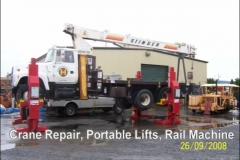 Crane Repair, Portable Lifts, Rail Machine