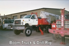 Boom Truck and Drill Rig