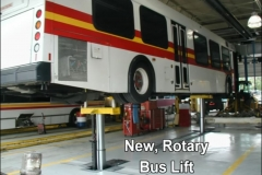 New, Rotary Bus Lift