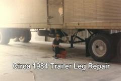 Circa 1984 Trailer Leg Repair