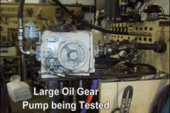 Large Oil Gear Pump Being Tested