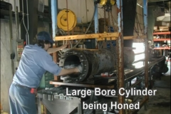 Large Bore Cylinder Being Honed